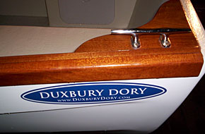 dory rail and cleat detail